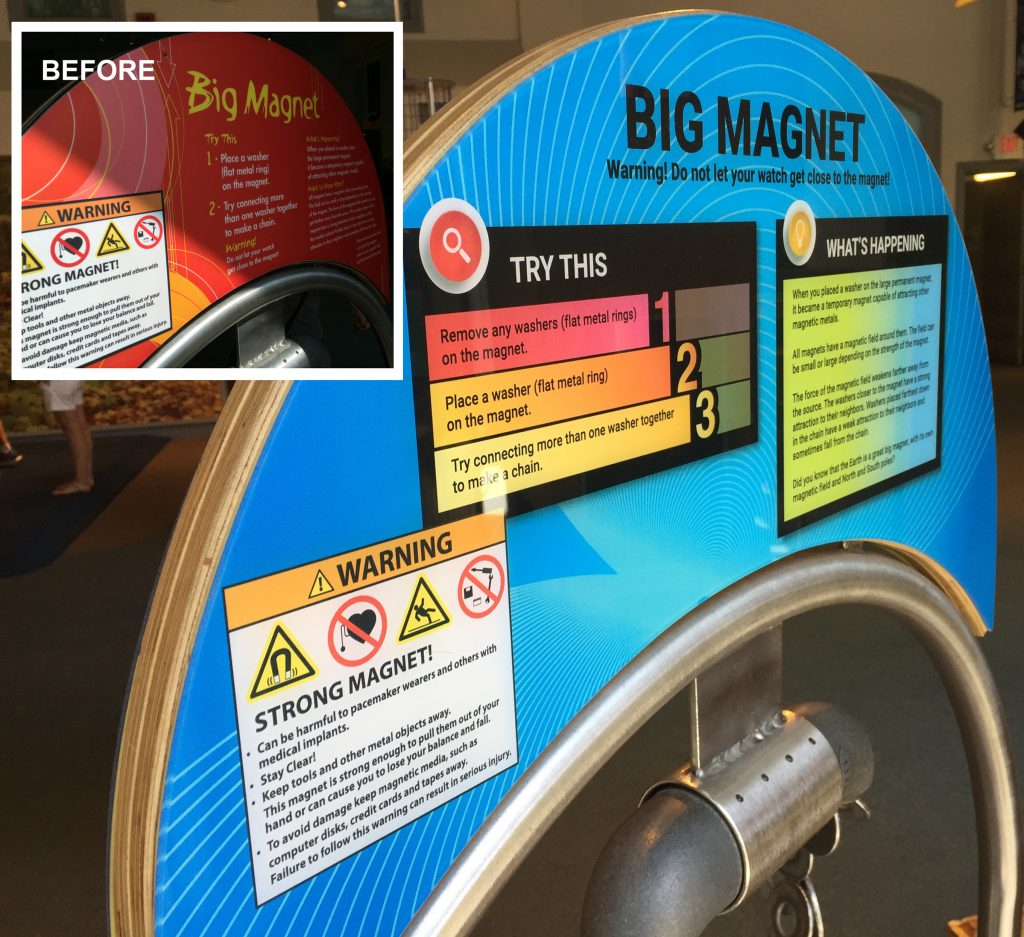 Big magnet exhibit graphic