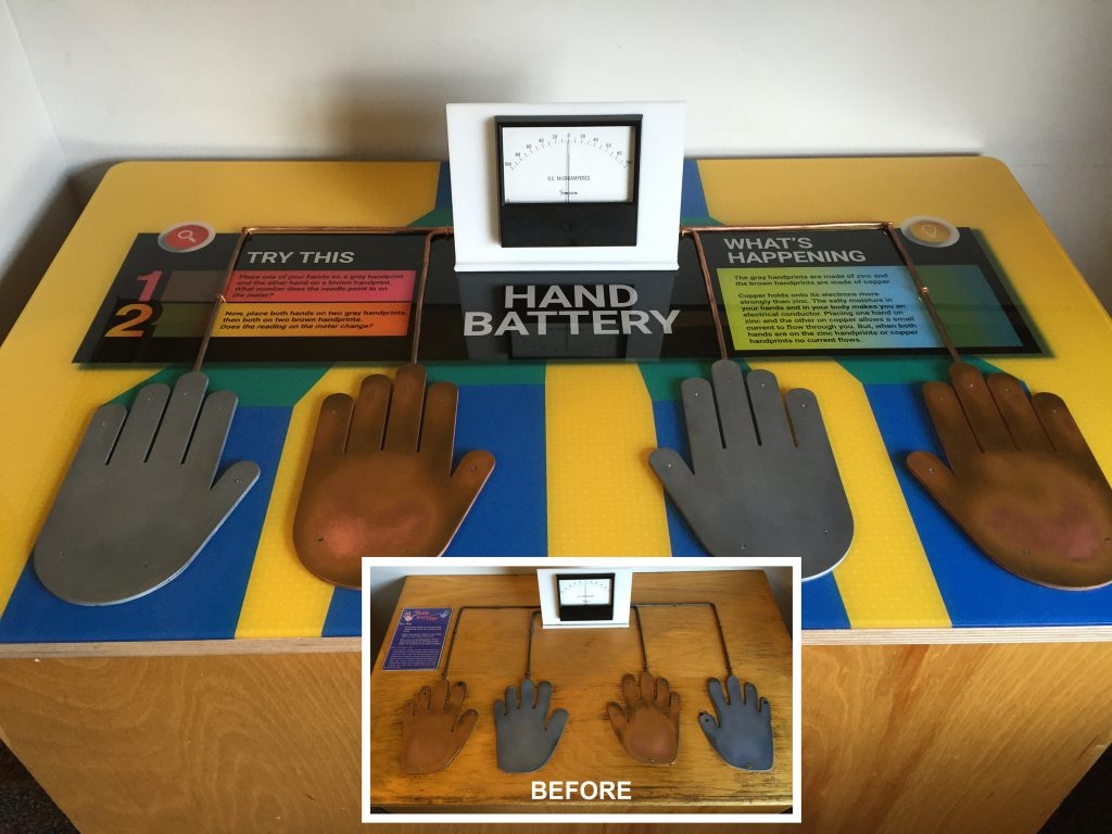 Hand battery graphic