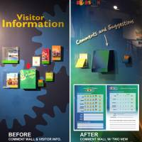 Visitor Info. comment wall and graphic comment cards