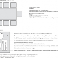 Table setting concept layout