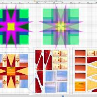 Illustrator designs of quilt shapes
