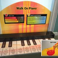 Walk on piano wall-graphic