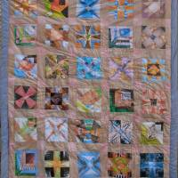 Quilt with hair dye borders