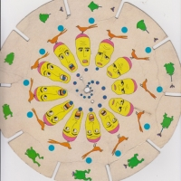 Original cardboard Stroboscope animation wheel